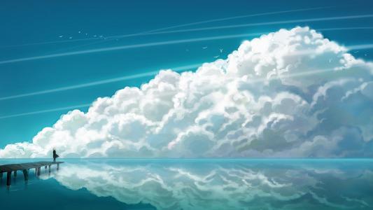 云彩和海高清壁纸