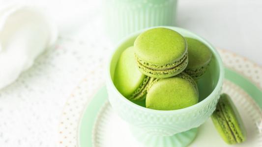 可口美味的甜点马卡龙
