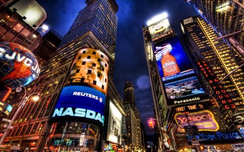 纽约时代广场壁纸