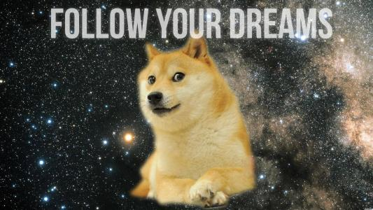 Doge Follow Your Dreams高清壁纸