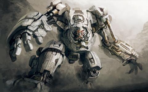 巨人机器人壁纸