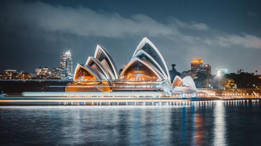 悉尼歌剧院夜晚景色