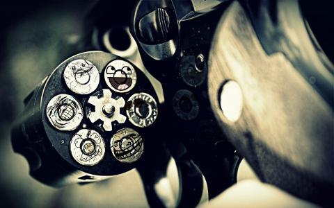 左轮手枪壁纸