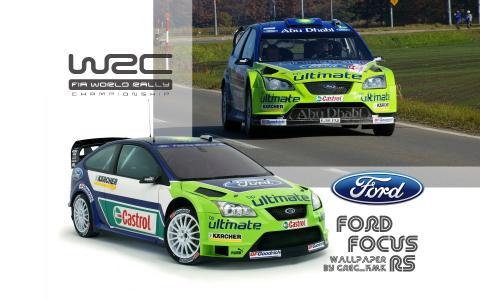 福特福克斯RS WRC壁纸