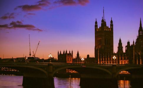 伦敦日落黄昏美景