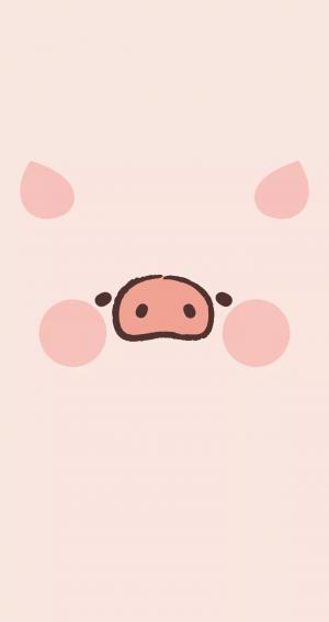 卡通可爱猪猪背景图