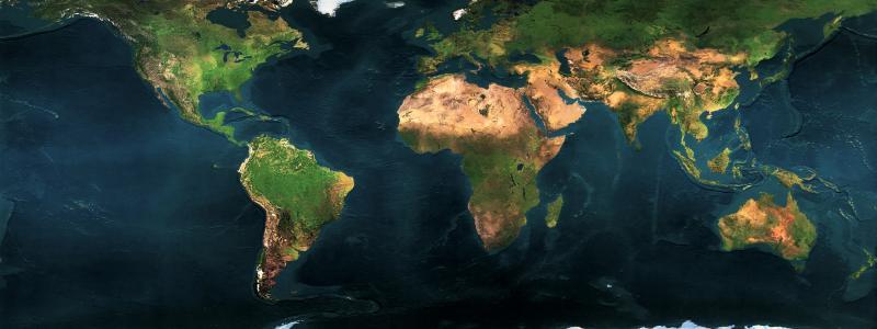 世界大陆地图壁纸