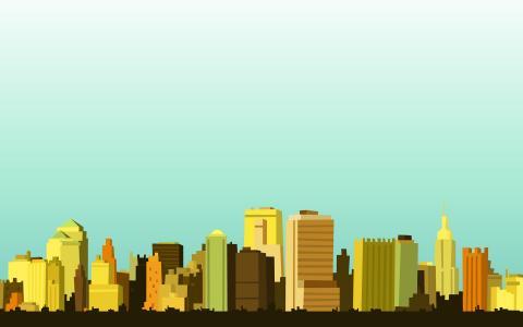 2d简单的城市景观壁纸
