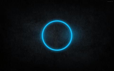 蓝色圆圈壁纸