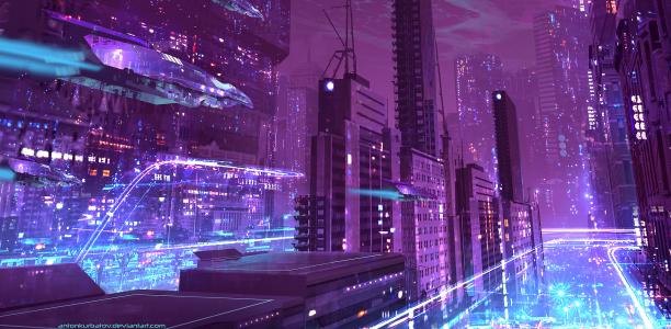 手绘未来世界