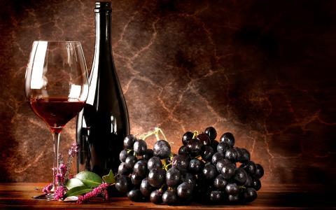 红酒和葡萄壁纸